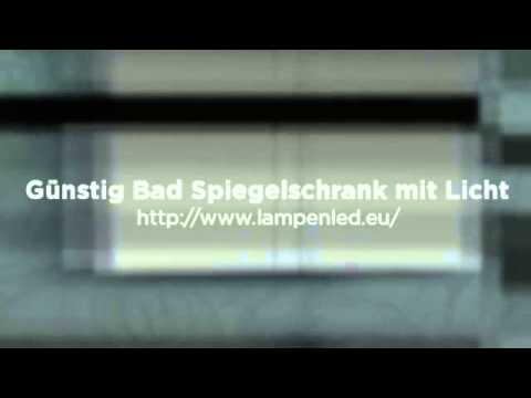 bad spiegelschrank mit licht youtube. Black Bedroom Furniture Sets. Home Design Ideas