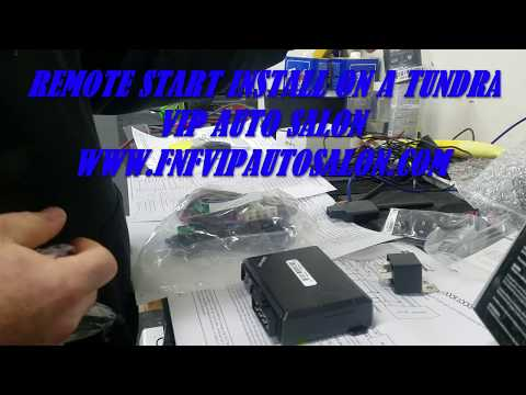 HOW TO INSTALL A REMOTE START ON A TOYOTA TUNDRA