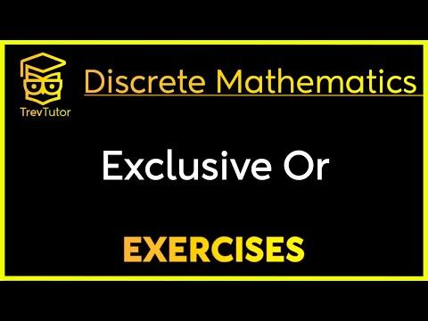 [Discrete Math 1] Exclusive Or Example