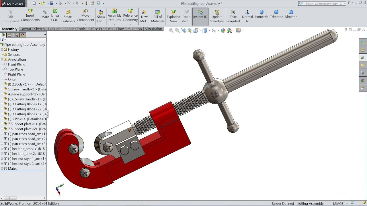 Solidworks Tutorial Sketch Pipe Cutter In Solidworks