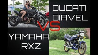 Video RXZ 120km/h VS DUCATI DIAVEL 180km/h (approx) ,FLY BY download MP3, 3GP, MP4, WEBM, AVI, FLV Oktober 2018
