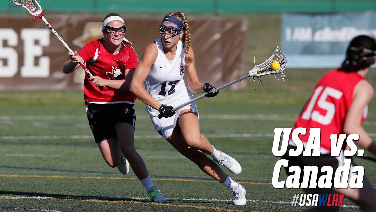 Highlights: Team USA vs. Canada U19 Lacrosse - YouTube