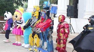Download Di Balik Kostum Superhero Batman, Iron man, Bumble Bee, Doraemon, Optimus Prime, & Badut LOL