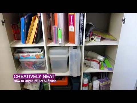 how to organize art supplies area youtube. Black Bedroom Furniture Sets. Home Design Ideas