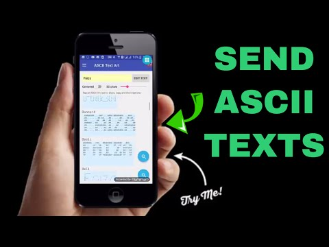 How To Send ASCII Text to your Friends
