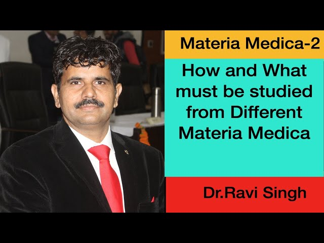 How and What Must be studied from Different Materia Medica Zoom   Dr Ravi  Part 2