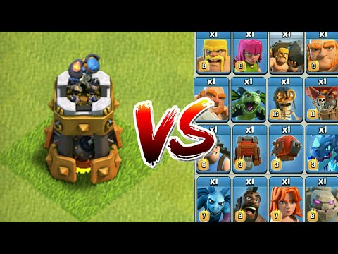 1 Vs 1 | Bomb Tower VS Every Single MAX Troop - COC