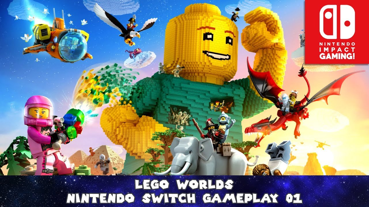 Lego Worlds Nintendo Switch Gameplay 01 Youtube