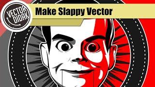 Make Slappy Goosebumps Lineart - vector scary lineart