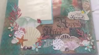 Scrapbook/photo album #8 Wedding Album (under the sea, little mermaid theme)
