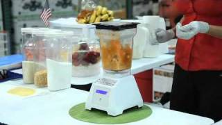 BLENDING Tortilla Soup using a Vitamix or Blendtec blender - Costco Blendtec Roadshow