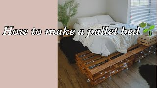 How to make a pallet bed Easy [what not to do]