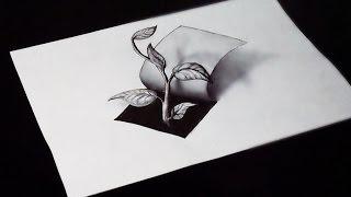 Как нарисовать 3D рисунок простым карандашом ИЛЛЮЗИЯ на бумаге смотреть онлайн в хорошем качестве бесплатно - VIDEOOO