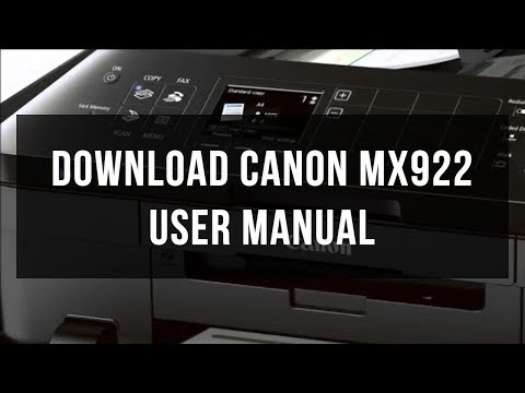 Download Canon MX922 user manual