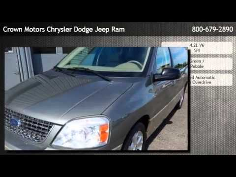 2005 ford freestar wagon limited holland youtube for Crown motors jeep holland