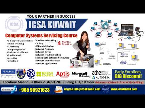 PC & Laptop Maintenance and PC Networking Course in ICSA Mahboula Kuwait