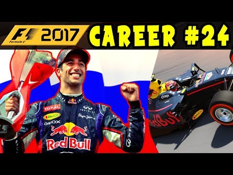 F1 2017 CAREER MODE PART 24: RUSSIAN GP - RED BULL RACING | REAR OF GRID | INTERACTIVE LIVE STREAM