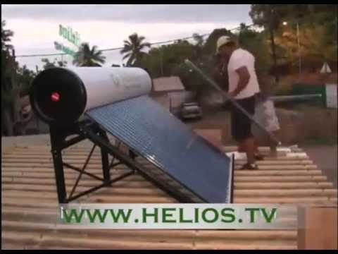 Helios Solar Water Heater - Mounting Video