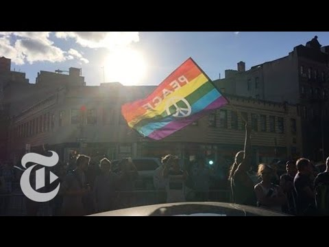 LGBT Community Mourns Orlando Shooting at Stonewall Inn   The New York Times