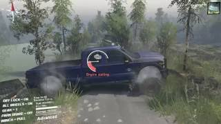 Spintires Ford F450 hauling A Big Dump Truck!