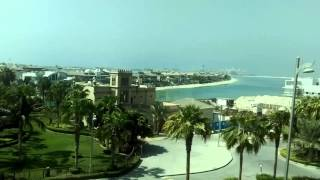 Palm jumerairah Beach view from mono rail, UAE