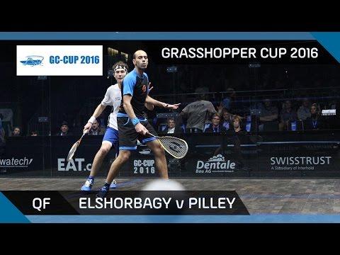Squash: Mar. Elshorbagy v Pilley - Grasshopper Cup 2016 - QF Highlights
