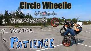 Praticing CIRCLE WHEELIES | KTM 450 Supermoto