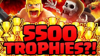 Clash of Clans ♦ 5500 TROPHIES?!? ♦ Global Leaderboard DEFEAT ♦