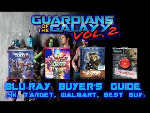 GUARDIANS OF THE GALAXY VOL  2 - BLURAY UNBOXING (4K, TARGET, WALMART, BEST BUY) BLURAY BUYERS GUIDE