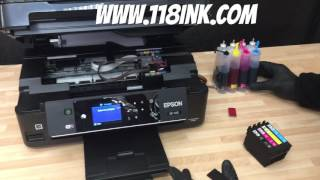 How to set up a continuous ink supply system CISS cartridge system on an Epson Printer XP-442
