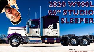 "2020 KENWORTH W900L 86"" STUDIO SLEEPER CUSTOM CUSTOM CUSTOM"