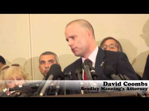 David Coombs Reads Statement from Bradley Manning