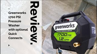 Greenworks 1700 Pressure Washer with optional Quick Connects
