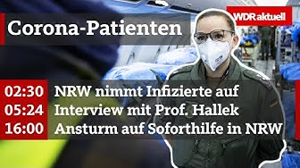 Corona-Patienten aus Italien in NRW gelandet und Ansturm auf Soforthilfe | WDR Aktuelle Stunde