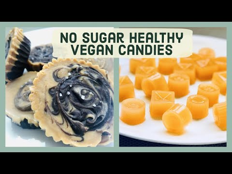 Healthy Vegan Gummies and Peanut Butter cups