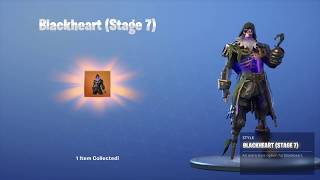 BLACKHEART STAGE 7 UNLOCKED 446 -Wins Fortnite Bataille Royale