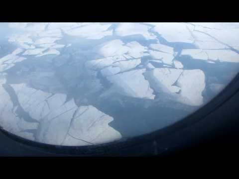 Замерзшее Азовское море февраль 2017 рейс ORENAIR (Симферополь - Москва)