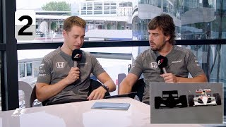 McLaren's Fernando Alonso and Stoffel Vandoorne | F1 Grill The Grid