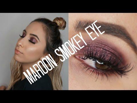 Maroon Smokey Eye FT Dose Of Colors Eyedeal Duo| ARPIHOVS