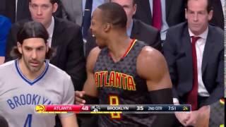 Dwight Howard Dabs on Jeremy Lin   Hawks vs Nets   January 10, 2017   2016 17 NBA Season