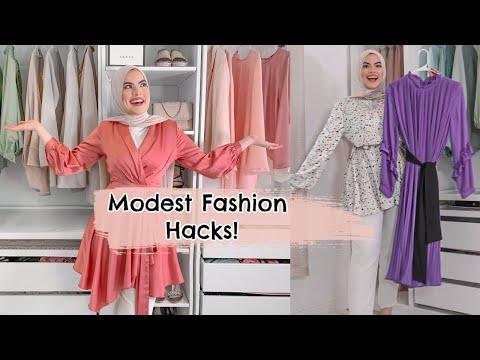 MODEST FASHION HACKS! - YouTube