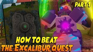HOW TO GET THE EXCALIBUR *PART 1* DUNGEON QUEST ROBLOX