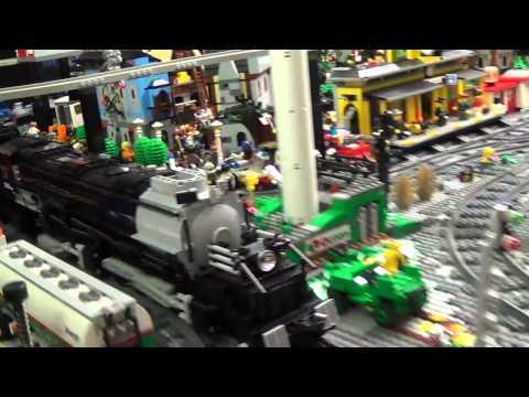 lego treno big boy  4-8-8-4 in movimento