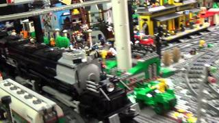 lego treno big boy  4-8-8-4 in movimento
