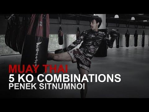 Muay Thai: 5 KO Combinations   Evolve University