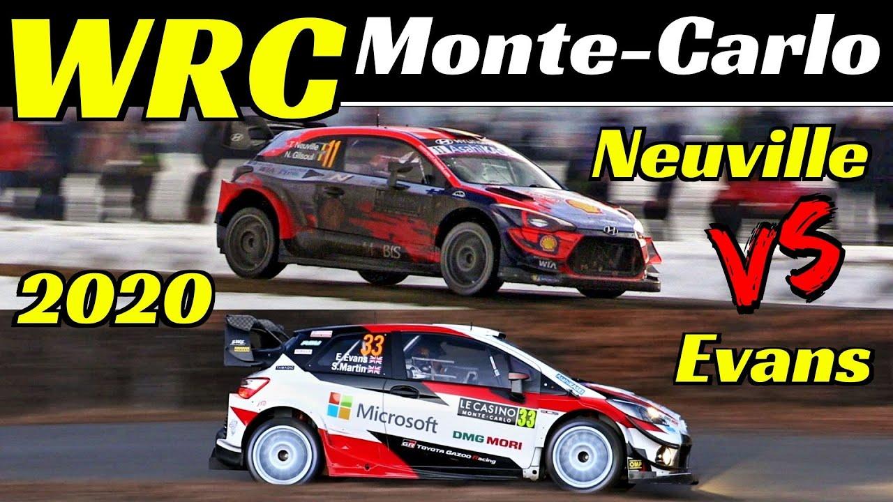 WRC Rallye Monte-Carlo 2020 - Thierry Neuville Vs Elfyn Evans - Comparison, Flatout & Max Attack