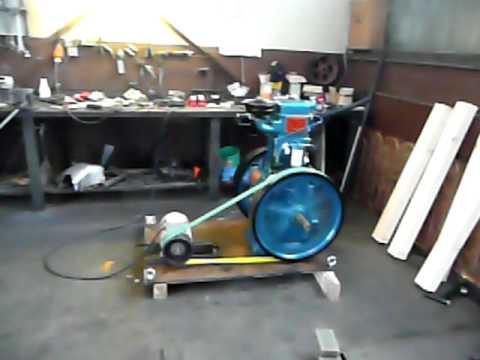 Slow Speed Lister Diesel Engine Under Load At 460 1 Min