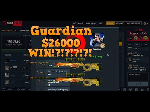 CSGO LOTTO - GUARDIAN $26000 COINFLIP!?!?!?!?