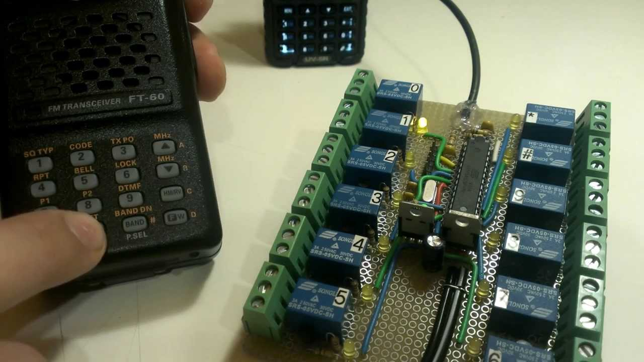 Radio Controlled Relays Youtube Remote Control Using Dtmf Receiver Transceiver