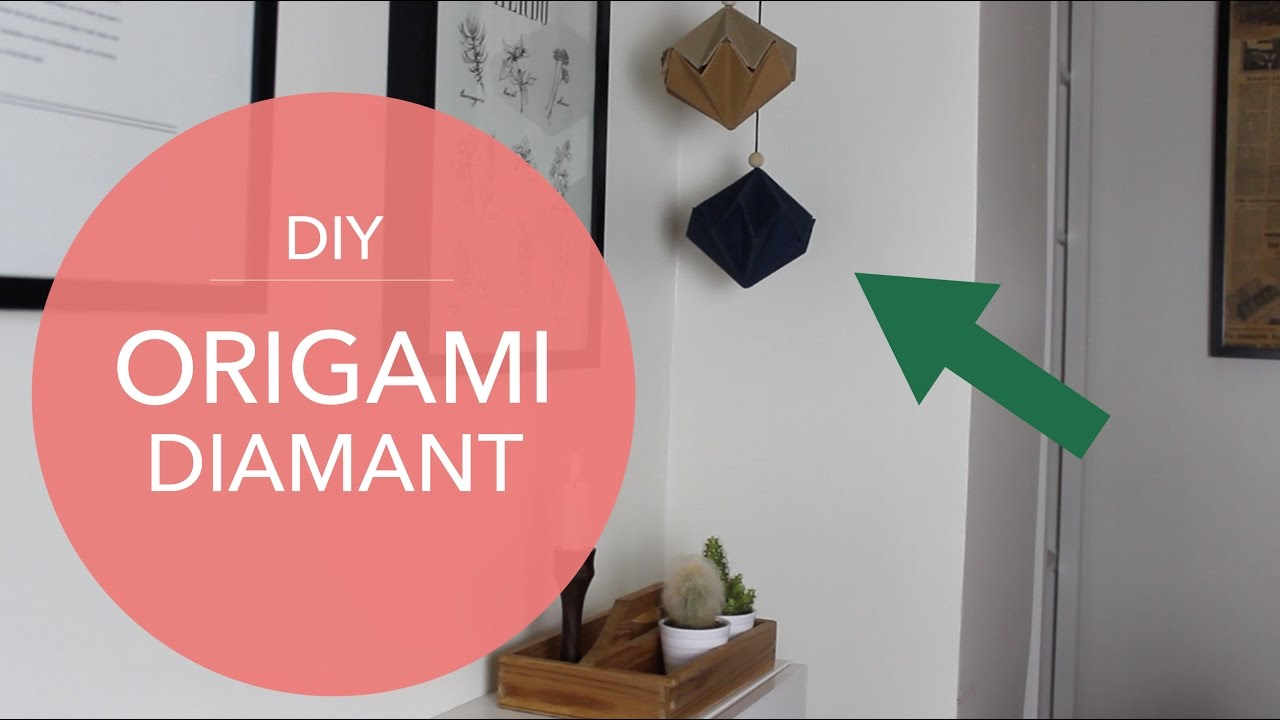 DIY - origami diamant - Enkelt julepynt #1